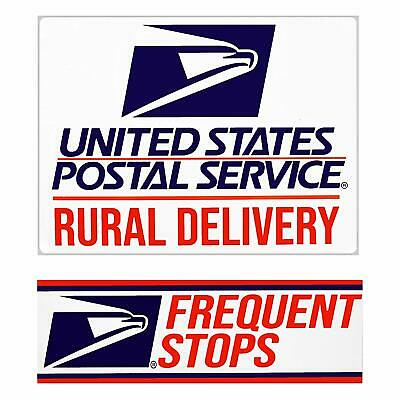 USPS MAGNETIC SIGN Rural Delivery US Mail  9 x 12 w Frequent Stops Magnet