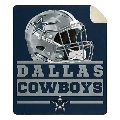 New NFL Dallas Cowboys Soft Large Throw Blanket with Sherpa 60x70