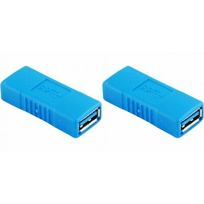 2-PACK USB 3-0 Type A Female to Female Adapter Coupler Gender Changer Connector