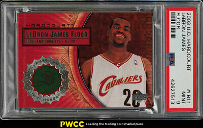 2003 Upper Deck Hardcourt LeBron James ROOKIE RC FLOOR PATCH LB11 PSA 9 PWCC