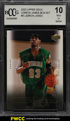 2003 Upper Deck Box Set LeBron James ROOKIE RC 6 BCCG 10 PWCC