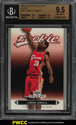 2003 Upper Deck MVP Silver LeBron James ROOKIE RC 201 BGS 9-5 GEM MINT PWCC