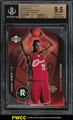 2003 Upper Deck Standing O Embossed LeBron James ROOKIE RC 85 BGS 9-5 PWCC