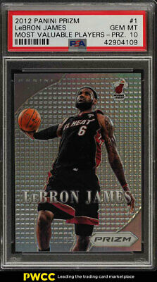 2012 Panini Prizm Most Valuable Players Prizms LeBron James 1 PSA 10 GEM PWCC