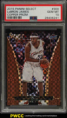 2015 Select Copper Prizms LeBron James 49 300 PSA 10 GEM MINT PWCC