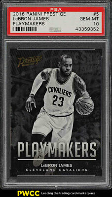 2016 Panini Prestige Playmakers LeBron James 5 PSA 10 GEM MINT PWCC
