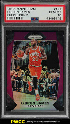 2017 Panini Prizm Purple Prizms LeBron James 75 191 PSA 10 GEM MINT PWCC
