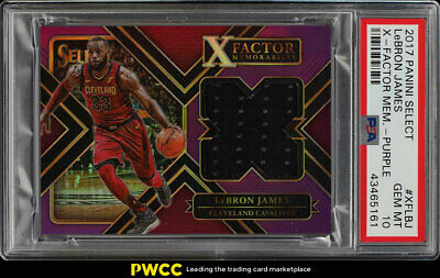 2017 Select X-Factor Memorabilia Purple LeBron James PATCH 99 PSA 10 GEM PWCC