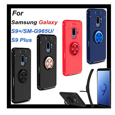 For Samsung Galaxy S9-SM-G965US9 Plus Magnet 360°Ring Stand Holder Case Cover