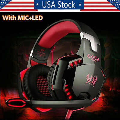 3-5mm Gaming Headset with Mic LED Headphones Surround For PC Laptop PS4 Xbox One