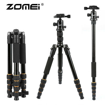 ZOMEI Aluminum Tripod Travel Monopod w Ball Head For DSLR Camera Camcorder Q666