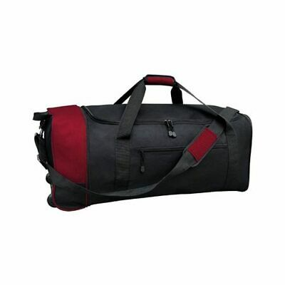Travelers Club Unisex  32 Collapsible Rolling Duffel BlackRed Size OSFA