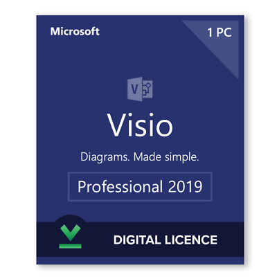 ✅ Instant 1PCs - Official Microsoft Visio Professional 2019 Full Version 🔑
