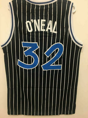 NEW Shaq Shaquille ONeal 32 Orlando Magic Throwback BLACK NBA Swingman Jersey