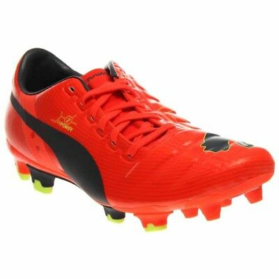 Puma EvoPOWER 2 Firm Ground Cleats  Casual Soccer Cleated Cleats Orange - Mens -