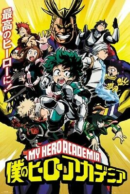 MY HERO ACADEMIA ANIME POSTER Limited Version Size 24x36
