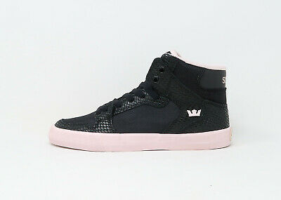 SUPRA Women Shoes Vaider Black Pink White Synthetic Material