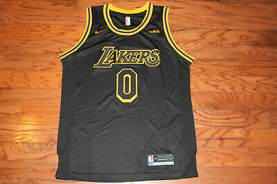 NBA Los Angeles Lakers 0 Kyle Kuzma Throwback Mens Jersey  Size 44