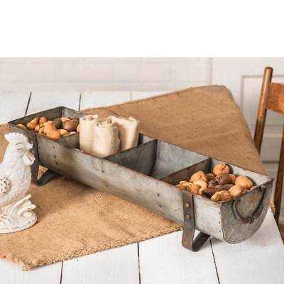 Large new Country Divided Tray in Distressed Tin