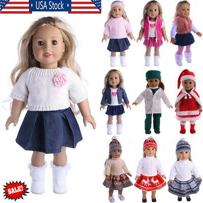 New Handmade Doll Clothes Dress Accessories Lot For 18 inch American Doll Girl U