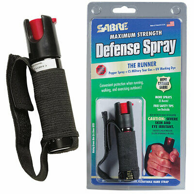 Sabre Red Police Strength Pepper Spray Runner Model With Hand Strap CLEARANCE