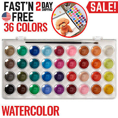 Watercolor Paint Set for Artists Students Beginners Portrait Paintings Portable