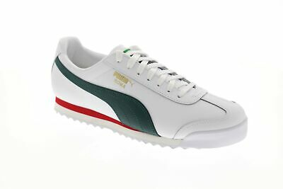 Puma Roma Classic Vtg 36956903 Mens White Leather Lace Up Low Top Sneakers Shoes