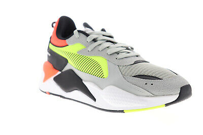 Puma RS-X Hard Drive 36981801 Mens Gray Textile Low Top Sneakers Shoes