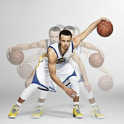 STEPH CURRY DRIBBLE MOTION POSTER size 24x24