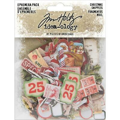 Tim Holtz  EPHEMERA PACK  Christmas Snippets  Idea-ology  Christmas 2019