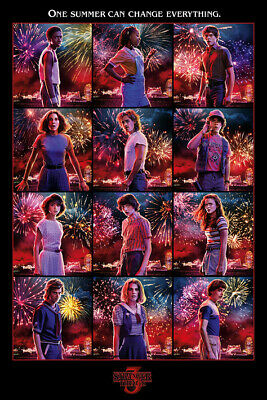 STRANGER THINGS 3 CAST POSTER size 24x36