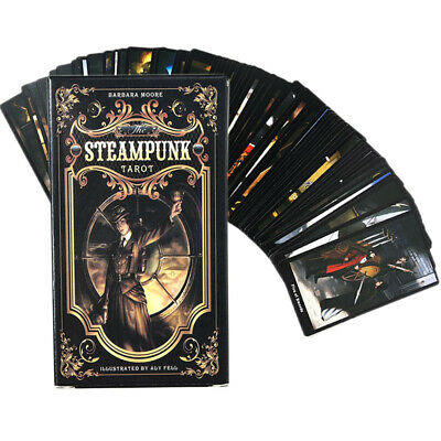 The Steampunk Tarot by Barbara Moore English Cards Guidebook Magic Accessories