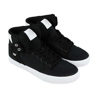 Supra Vaider 08204-049-M Mens Black Canvas Casual High Top Sneakers Shoes