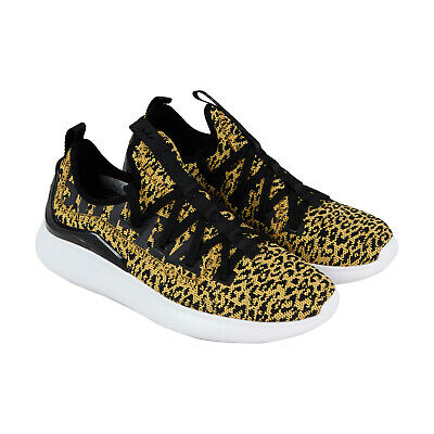 Supra Factor 05895-819-M Mens Yellow Canvas Low Top Athletic Surf Skate Shoes