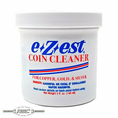 1- E-Z-Est eZest 5-Ounce Coin Cleaner Jar for Silver Gold - Copper Jewelry