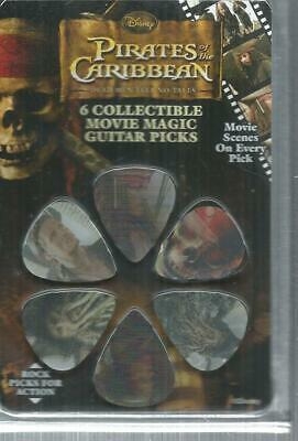6 mediators collector Pirates of the caribbean. ( 6 movie guitar picks ). NEUF