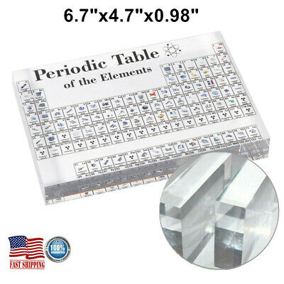 Acrylic Periodic Table Display of Elements for Teaching Home Decor Gift Xmas NEW