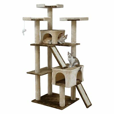 71 Cat Tree Tower Condo House For Large Cats Scratching Post Furniture Climbing