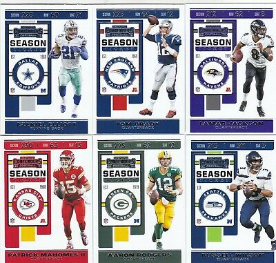 2019 NFL CONTENDERS FOOTBALL BASE SINGLES 1-100 CHOOSE YOUR PLAYER