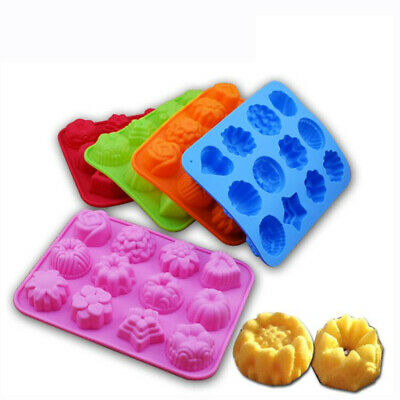 112 Cavities Flowers Shape Silicone Hand Made Soap Molds Ice Lattice Cake Mould