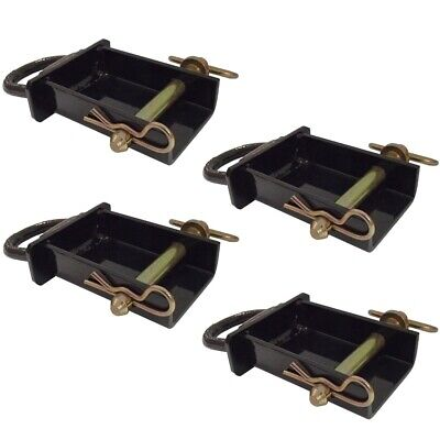Set4 Removable Stake Pocket D-Rings for Utility Trailers - Flatbeds w Pockets
