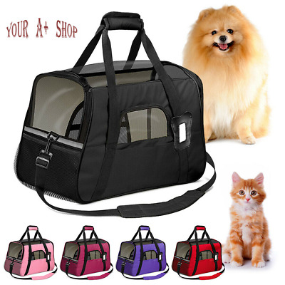 Small Cat  Dog Pet Carrier Soft Sided Comfort Bag Travel Case Airline Approved