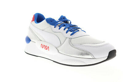 Puma RS 9-8 Space Agency 37250901 Mens White Mesh Lace Up Low Top Sneakers Shoes