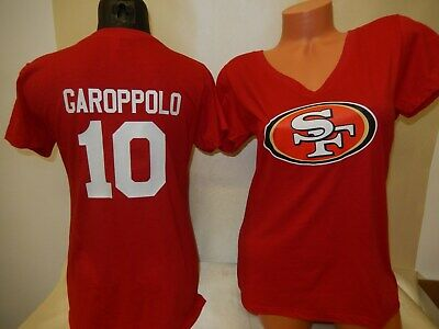 0110 Womens San Francisco 49ers JIMMY GAROPPOLO V-Neck Football Jersey SHIRT