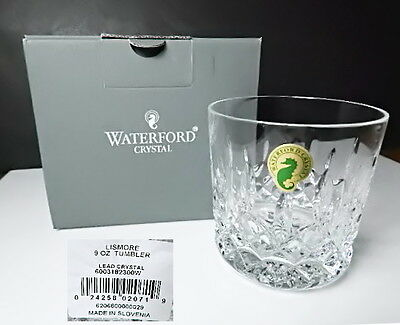 Waterford LISMORE 9 oz Old Fashioned Tumblers New in Box