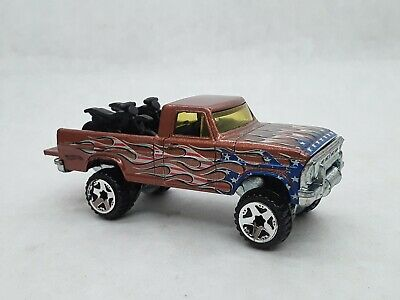 Hot Wheels 4th of July Texas Drive Em Pickup Truck Loose