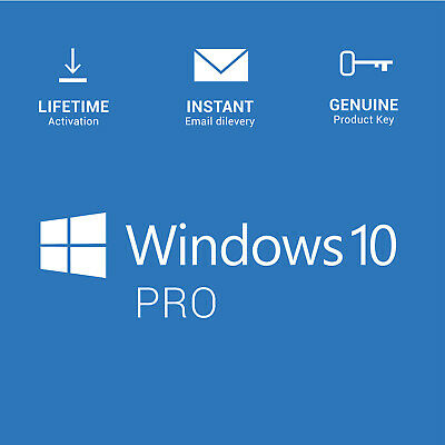 Windows 10 Pro Licence Key - Instant - 247 Support  32 - 64 BIT Activation