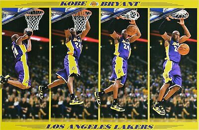 KOBE BRYANT LAKERS POSTER Dunk in Motion size 24x36