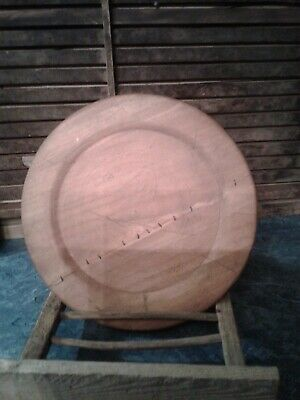 antique primitive large 14 in charger wood plate
