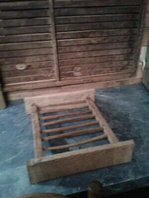 antique primitive wood plate rack